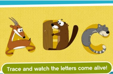 kids write abc letter animals