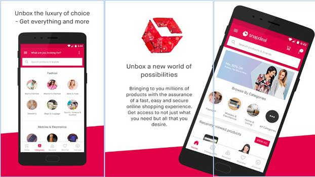 snapdeal online shopping app