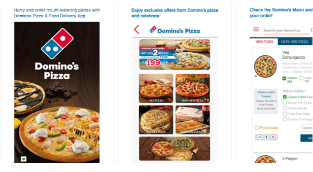Domino's Pizza Online Delivery | Online pizza booking Mobile App