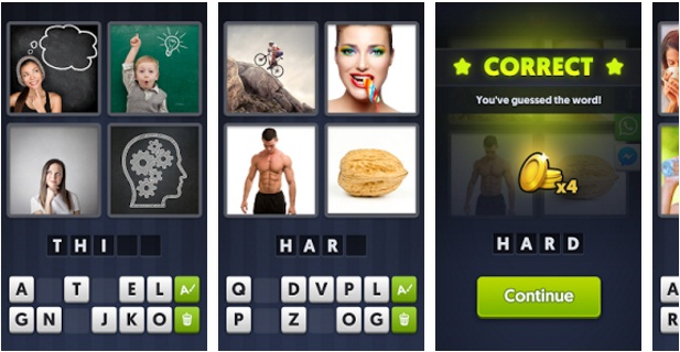 4 Pics 1 Word Android Game App