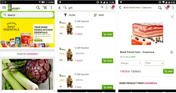 Natures Basket Online Grocery APK | Shopping Android Mobile Apps