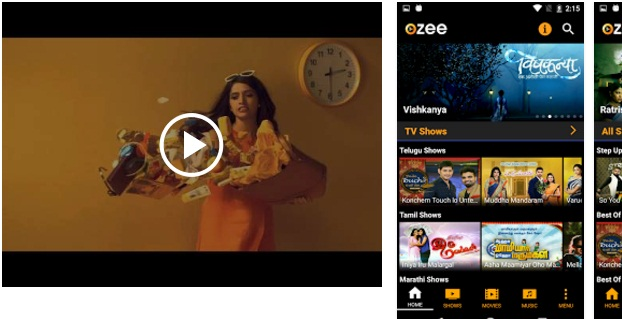 OZEE Free TV Shows Movie Music App
