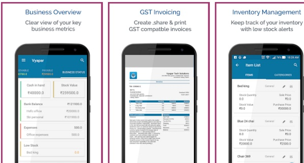 Vyapar Mobile App | GST Invoicing | Accounting | Inventory app
