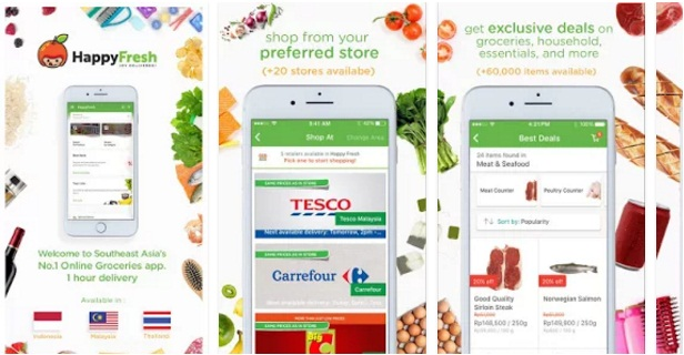 Happy Fresh-Grocery Delivery App