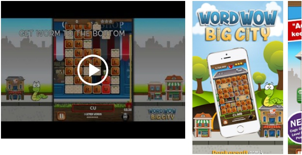 Word Wow Big City-Help Worm App | Android Puzzle Game Apps