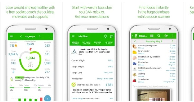 Calorie Counter-MyNetDiary App | Health & Fitness Android Apps