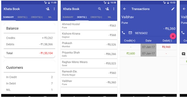 Khata Book Android App | Finance Apps | Android Mobile Apps