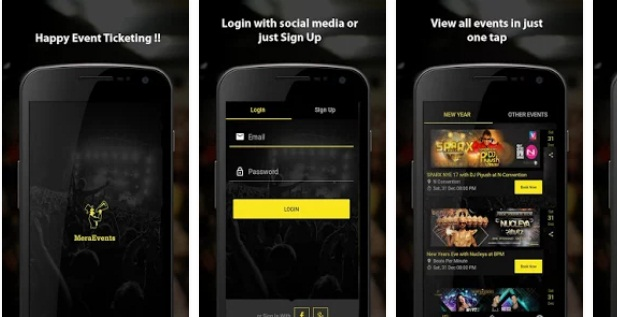 Mera Events App | Shows & Concerts Apps | Entertainment Apps
