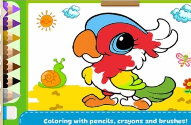 coloring book-kids paint