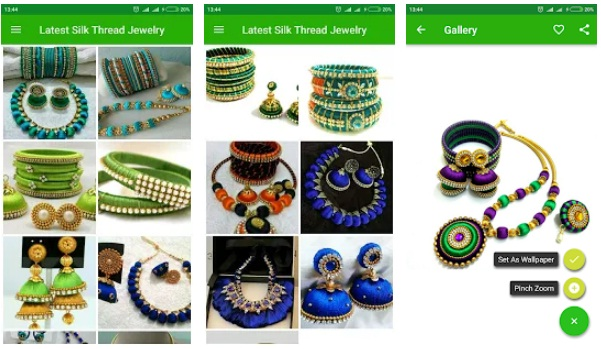 Latest Silk Thread Jewelry | Download best Art & Design Android App