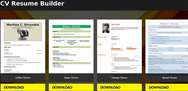 free resume builder app 5 minute cv templates android app - Free Resume App