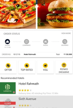 POTAFO – Online Food Delivery
