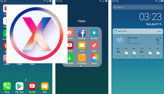 X Launcher New: With OS12 Style Theme