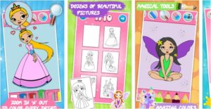 Coloring pages game-princess
