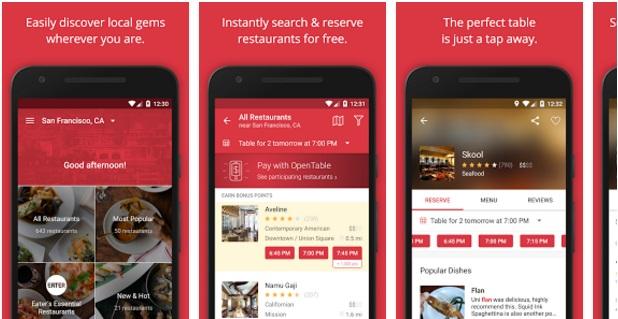 OpenTable-Restaurants Near Me App