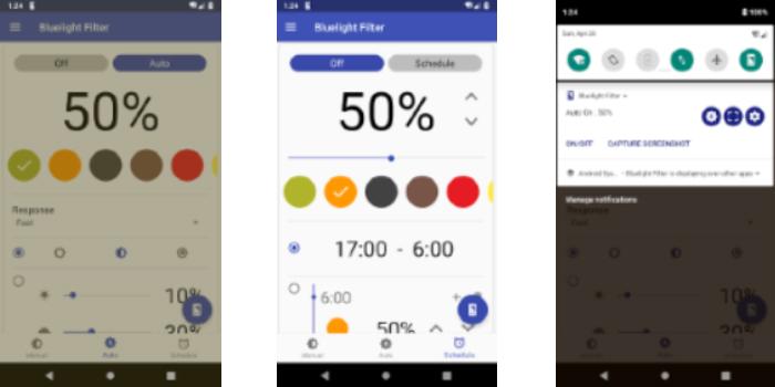 Bluelight Filter for Eye Care - Auto screen filter (Beta)